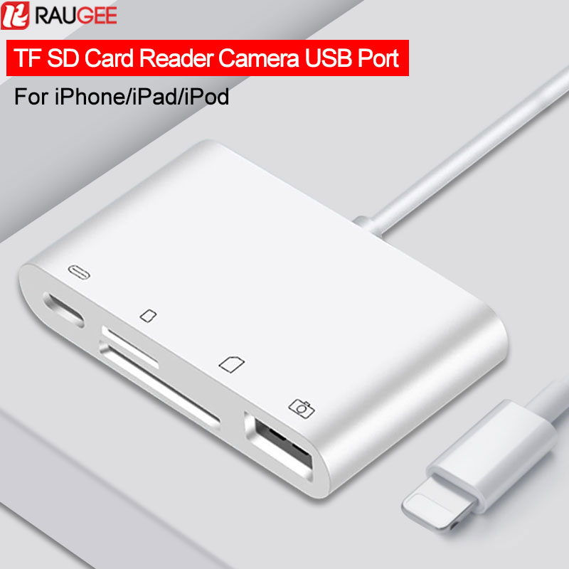 4 In 1 TF SD Card Reader OTG Cable Adapter Lightning SD Card Reader For IPhone IPad Micro USB HUB Camera Fast Reader Data Sync