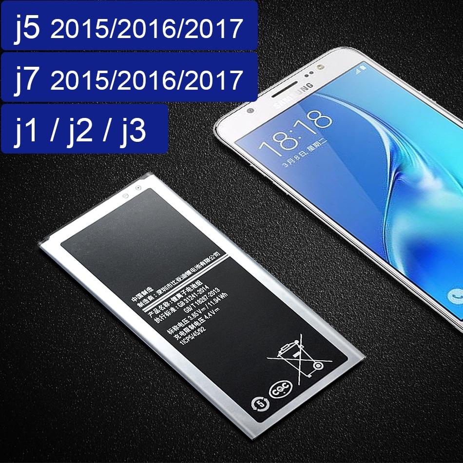 Battery EB-BJ510CBE For Samsung Galaxy J5 2016 J510 J510F For Samsung J1 J2 J3 J5 J7 2015 2016 2017 Battery EB BI510CBE/BJ120CBE