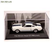 Ixo altaya 1:43 escala ford mustang shelby, gt 350h 1965 carros diecast brinquedos, coleção limitada, branco