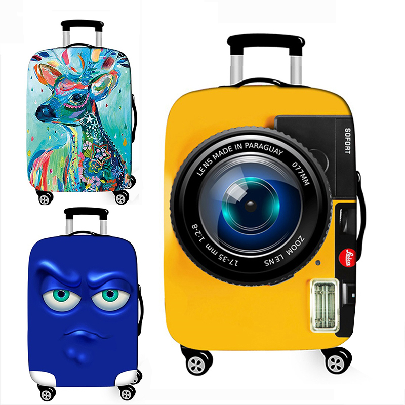 3D Pattern Luggage Cover Elasticity Luggage Protective Covers For 18-32 Inches High Quality Stretch Fabric Suitcase Case