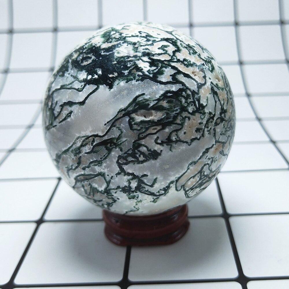 55-65 мм натуральный мох Агат Хрустальная Сфера океан трава агат кварцевый шар из Поделочного Камня Рейки Исцеление 1 шт