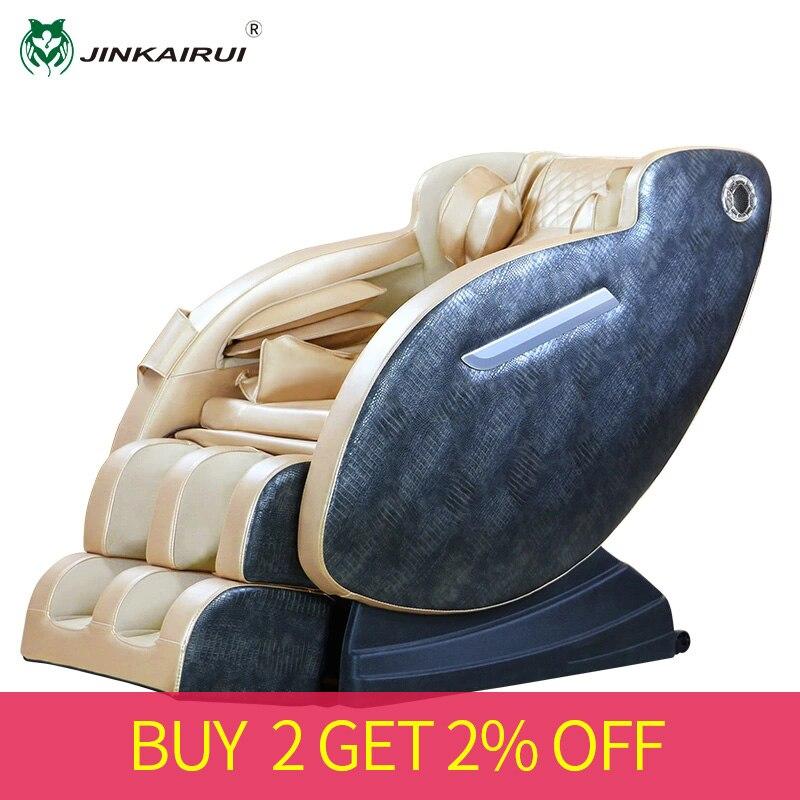 JinKaiRui luxueux fauteuil de Massage maison électrique automatique complet corps pétrissage Shiatsu multifonction Capsule masseur