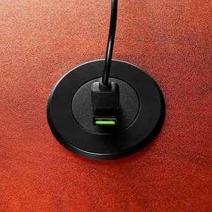 Image 3 - YASOKO 3 USB デスクトップ充電器 5V 3.1A オフィスホームデスク穴充電ステーションユニバーサル携帯電話充電器 Iphone oppo EU プラグ