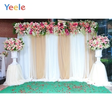 цена Yeele Wedding Ceremony Flowers Floor Curtain Wall Photography Backdrops Personalized Photographic Backgrounds For Photo Studio