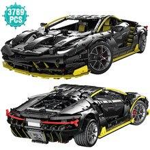 Especialista super esporte preto carro blocos de construção famoso velocidade de corrida veículo modelo brinquedos presente aniversário para o namorado