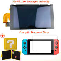 Lcd Original para consola Nintendo Switch NS con montaje completo de la pantalla táctil + piezas de repuesto de vidrio templado, buena transmisión