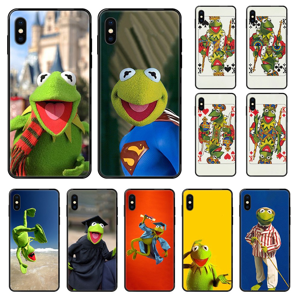 Muppets kermit the frog painting 3D coque back black Phone case For iphone 4 4s 5