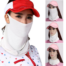 Sun-Protective-Mask Golf Women Sports Summer Collar Ourdoor Neck Ice-Silk Not-Including-Hat