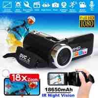 1080P HD Camcorder Video Kamera 24MP IR Nachtsicht 3,0 Inch LCD Screen 18X Digitale Zoom Kamera Fotografica DV camcorder