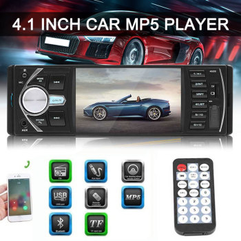 4.1 Inch Multimedia MP5 Player USB AUX Bluetooth DC12V Car MP5 FM Radio Player HD Vedio Reverse Image image