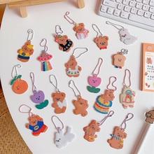 Bag Notebook Shell-Pendant Key-Chain Airpods Tulips Cartoon-Bear Cute Ins Earphone Creative