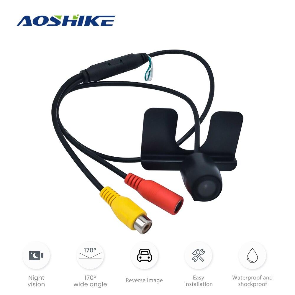 AOSHIKE 150 kąt pojazdu tylna kamera z widokiem z boku CCD HD Night Vision wodoodporna IP67 uniwersalna kamera samochodowa 2020 gorąca sprzedaż