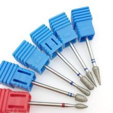 Фрезы алмазные для маникюра и педикюра, электрическая машинка для маникюра, 6 типов, аксессуары для нейл арта, пилки для чистки ногтей
