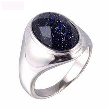 High Quality Oval Starry Sky Jewelry Rings Purple Titanium Steel Ring Casting For Men Free Shipping