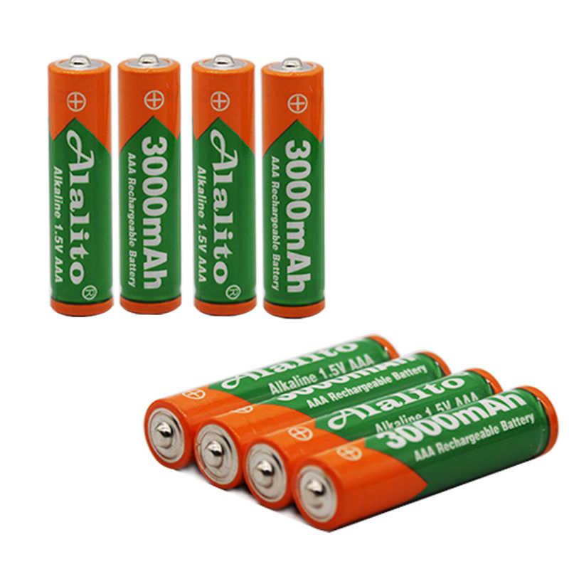 Nueva Marca 3000mah 1,5 V AAA Batería alcalina AAA batería recargable para Control remoto juguete batería alarma de humo con cargador