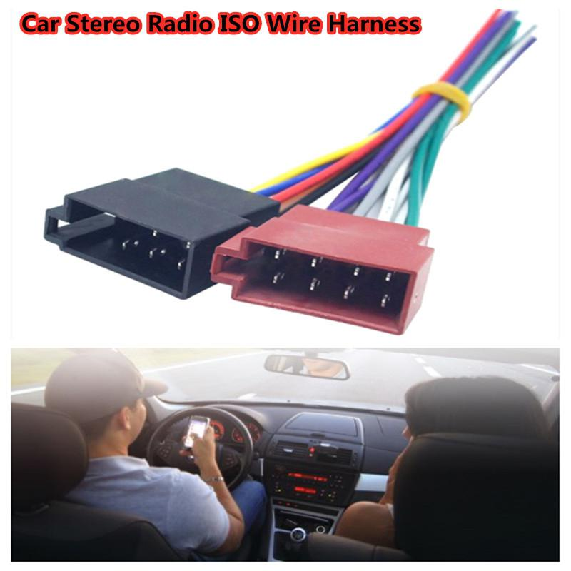 Car Electronics Accessories Car Stereo Female Socket Radio ISO Wire Harness Adapter Connector for V W Audi Mercedes