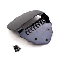 Mandolin Black  Tailpiece With 3pc Screws FOR Mandolin Replace