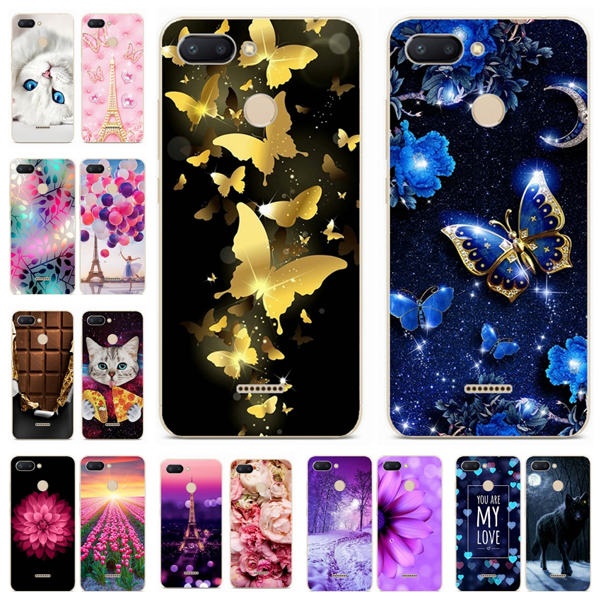 Silicone Cover For Xiaomi Redmi 6 Case 5.45' For Redmi 6 Pro 5.84' Cat Printing Phone Shell Xiomi Redmi Redmi6 6 Pro 6pro Fundas