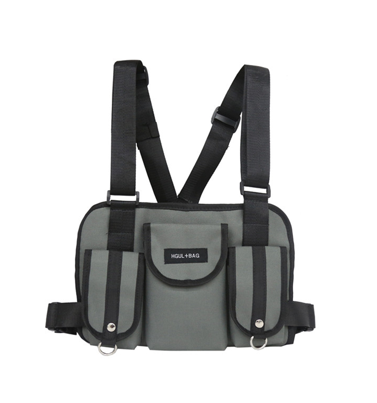 He7f6661bf5a0445f9c30658c76b81952e - Fashion Chest Rig Bag Hip Hop Streetwear Functional Tactical Chest Bags Cross Shoulder Bag Kanye West backpack waist bag black
