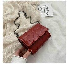 Fashion Chain Bag Small Square Bag Women Bag 2020 New Wild Bag Chain Shoulder Messenger Bag Female Bag Quality PU Leather Bag цена 2017