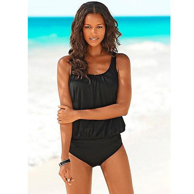 Купить с кэшбэком Swimwear 2020 Sexy Swimsuit Women Plus Size Tankini Sets Swim Vintage Beach Wear Bathing Suits Female Bandage Monokini Swim Suit