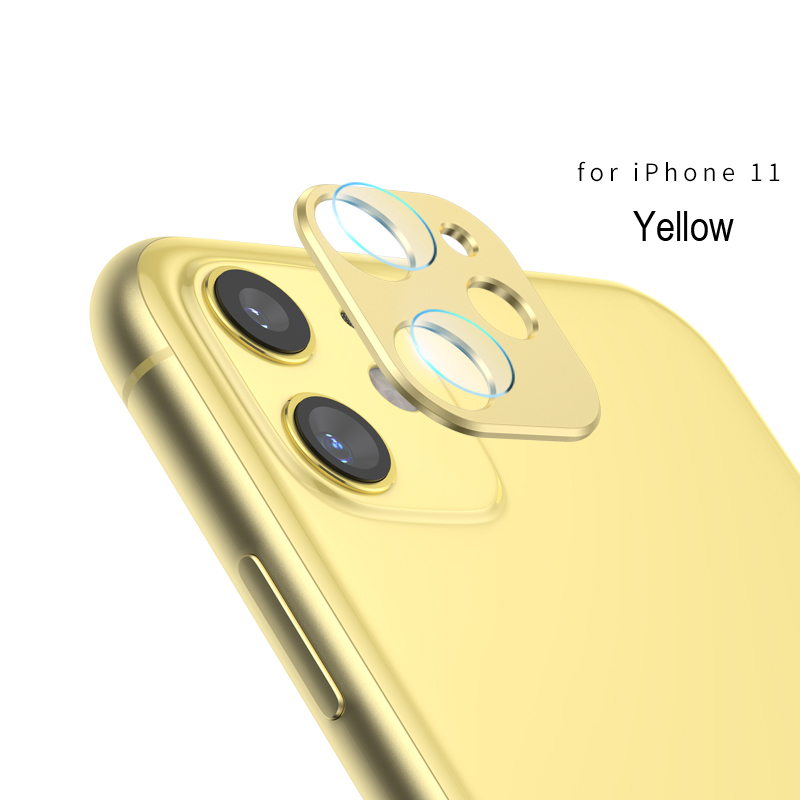 Горячая закаленная стеклянная пленка защитная крышка объектива против царапин пленка для iphone 11 Pro 11 Pro Max рамка из титанового сплава iphone 11