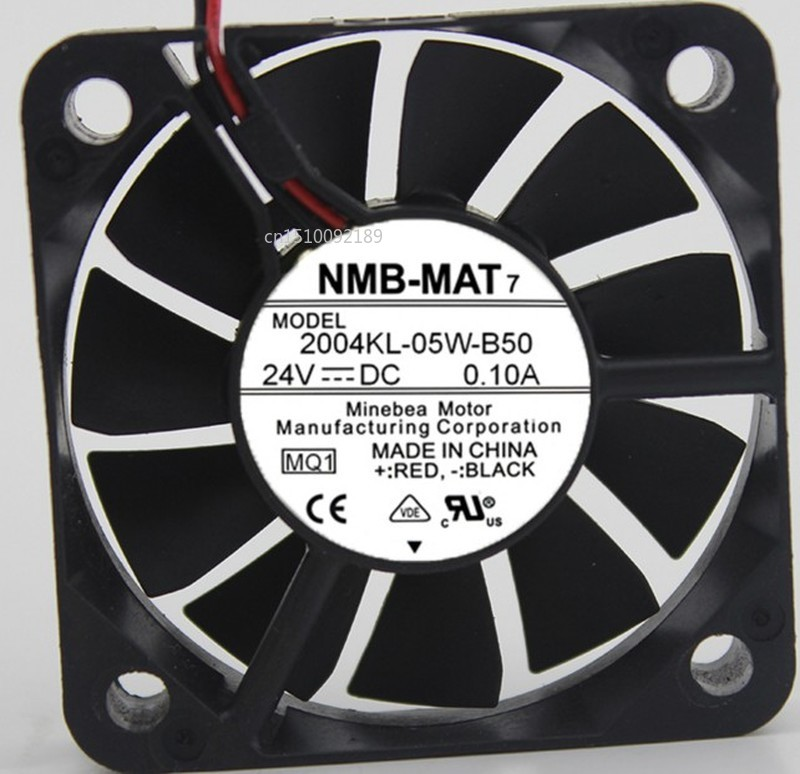 For NMB-MAT 2004KL-05W-B50 MQ1 DC 24V 0.10A 50X50X10mm Server Cooler Fan Free Shipping