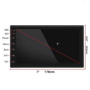 "Image 3 - Hikity 안 드 로이드 8.1 자동차 멀티미디어 플레이어 GPS 네비게이션 2 Din HD Autoradio WiFi USB 7 ""MirrorLink 자동차 스테레오 백업 수신기"