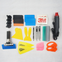Car Vehicle Vinyl Wrap Tools Set Auto Wrapping Tools Magnetic Squeegee Carbon Fiber Sticker Film Cutter Knife Car Accessories