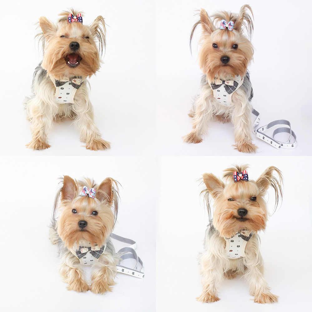 Yelek köpek Harneses köpek yular koşum kurşun nefes file kumaş göğüs kemeri Cat 6044042 için Pet köpek malzemeleri S M L