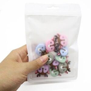Image 4 - 卸売 100 ピース/ロットビニール袋おしゃぶり包装 & ディスプレイアクセサリー安全 BPA 無料シリコーンビーズパッケージディスプレイバッグ