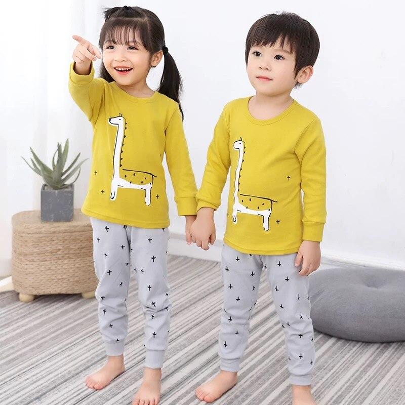Kids Pajamas Boys Girls Cotton Sleepwear Toddler Animal Pajamas Sets Baby Boy Clothes Nightwear Pyjamas Kids Baby Pijama 1