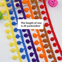 100pcs/lot DHL Hairball pompom Sewing Decor 20Yards 18m Fringe Tassel Trim Lace cord braided ribbon Craft Accessories