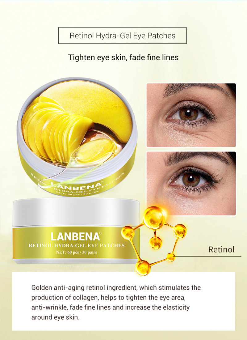 1PC Eye Patch Mask Collagen Korea Against Wrinkles Dark Circles Care Eyes Bags Pads Ageless Hydrogel Sleeping Gel Patches TSLM1