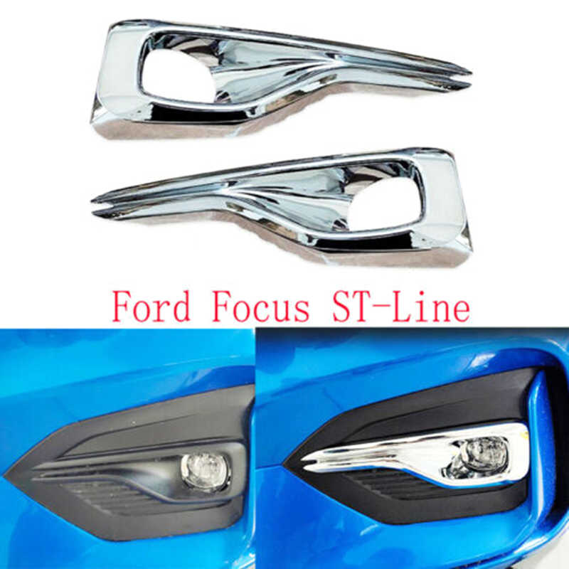 ,For,Ford Focus 2019 2020 ST-Line 2Pcs Front Foglight Lamp Cover Trim Frame Exterior Accessories