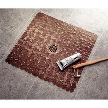 Square Cobblestone Pattern Bathroom Non-slip Environmental Protection Tasteless PVC Mat Floor Bath