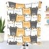 Kawaii Cat Throw Blanket Sherpa Blanket Bedding soft Blanket