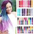 ONYX Haare Lange 24 zoll Jumbo Zöpfe Haar Extensions Synthetische Flechten Haar stil 100g/Pcs Reines/Ombre farbe für Frauen