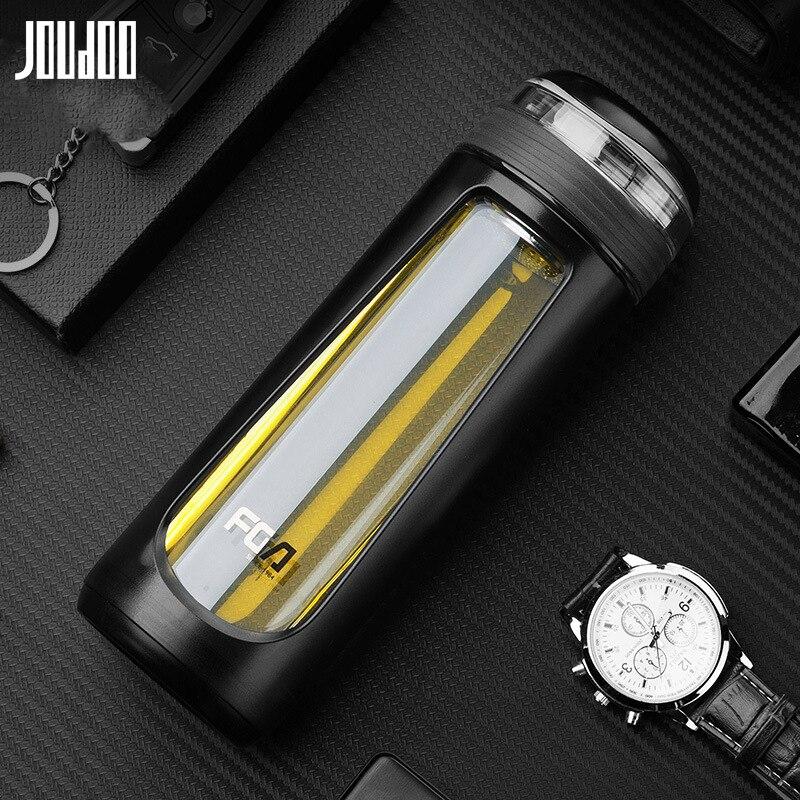 JOUDOO High Borosilicate Glass Water Bottle Glass&Plastic Travel Tea Bottle with Strainer Heat Resistant Car Drinkware Bottle Water Bottles    - AliExpress