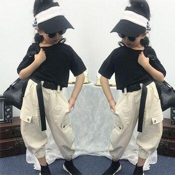 Conjunto de ropa infantil para niñas de 3, 4, 5, 6, 7, 8, 9, 10, 11 y 12 años, camiseta y pantalones informales de verano de dos piezas, ropa para niños