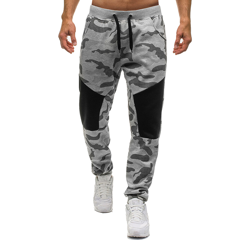 Men's Jogger Camouflage Pants Men Fitness Bodybuilding Gyms Pants Runners Clothing Sweatpants Personalized Stitching Trousers