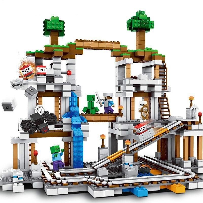 922 pièces Minecrafting la Mine blocs de construction compatibles Legoinglys Minecrafting 21118 jouets pour enfants noël cadeau bricolage modèle