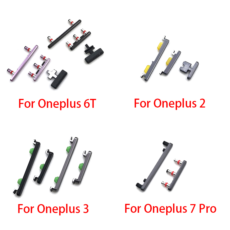 SIde Volume Button + Power ON / OFF Buttton Key Set Replacement Part For Oneplus 2 3 5 5T 6T 7 Pro