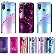 Mobile Cell Phone Case for xiaomi Redmi Note 6 7 8 Pro 5 5A 4X Prime Cover Crystal Rhinestone Flower Cute(China)