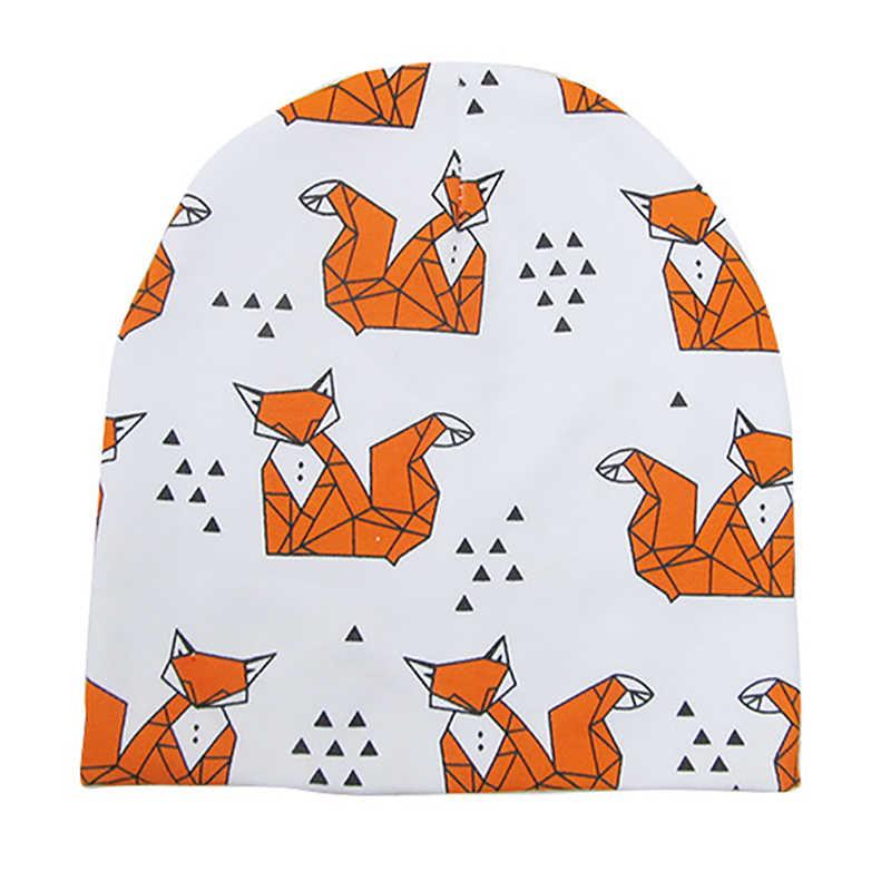 Kapas Bayi Beanie Topi Kartun Cetak Baru Lahir Topi Elastis Balita untuk Anak Perempuan Anak Laki-laki Anak-anak Foto Bayi Topi