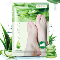 6pcs=3pair Dead Skin Remover Foot Mask Exfoliating Feet Mask Socks For Pedicure Peeling Heels Foot Mask Aloe Vera Feet Mask 5
