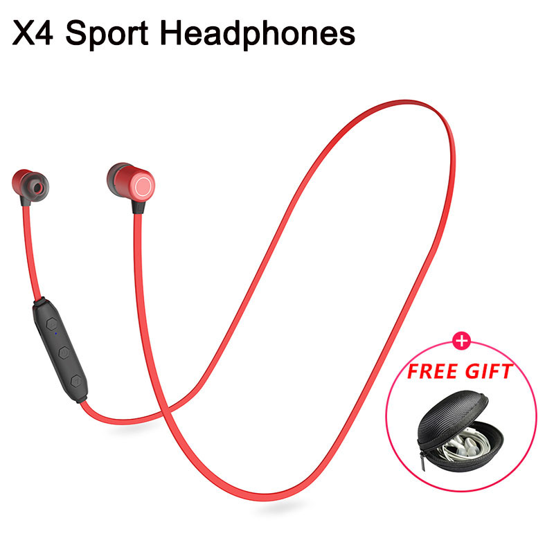 X4 Metal Magnet Wired Headphones For IPhone11 11Pro Xiaomi T9 HD Stereo Wireless Earbuds Headsets Sport 5.0 Bluetooth Earphones