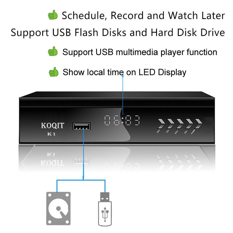 FTA 1080P DVB-S2 Digital Satellite Receiver Tuner Wifi Youtube Tv Box Recording
