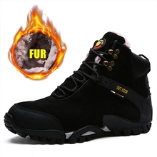 Ankle-Boots Snow Outdoor Hiking-Shoes Trekking High-Top Hunting Male Breathable Winter