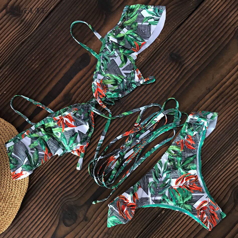 He7f93bdb4e244132ba9bc5624da57f2bs Sexy High Waist Bikini Swimwear Women Swimsuit Push Up Bikinis 2019 Women Biquini Ruffle Swimsuit Bathing Suit Female Beach Wear